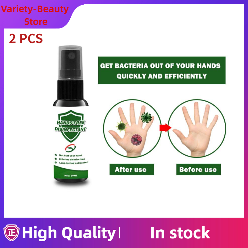 2 Pcs 30ml Disposable Hands Washing Free Disinfectant Alcohol Free Chlorine Disinfectant Antibacterial Hand Sanitizer TSLM1