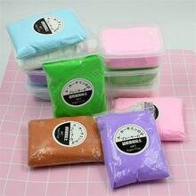 Nowy 100g japonia Slime Light miękka glina Air DIY Dry Polymer plastelina kolorowe Fluffy Glue lekka glina edukacyjne zabawki dla dzieci