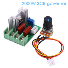 AC 220V Spannung Regler Gemacht LED Dimmen Dimmer 2000W Motor Speed Controller Gouverneur Modul W/potentiometer(China)