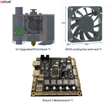 Newst Upgraded Spare Part to Upgrade Ortur4 3D Printer to Ortur4-V1 Ortur 4.3 Motherboard/Upgraded Print Head/6010 Cooling Fan wanhao 3d printer parts d7 v1 5 upgrade kit v1 3 v1 4 upgrade to v1 5 upgrade pack