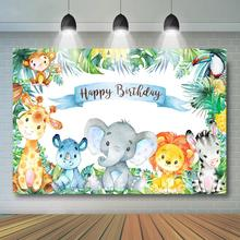 цена на Safari Animals Backdrop, Boy's Safari Birthday Party Banner, Wild ONE Jungle Animals Decor, Safari Baby Shower Cake Table Banner