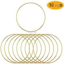 10pcs Metal Dream Catcher Dreamcatcher Ring Macrame Craft Hoop DIY Wedding Wind Chime Hanging Decorations Accessory 35-190mm