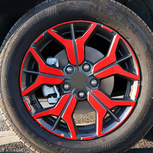 for KIA seltos 2020 (4 tires) hub Sticker Decorative film Carbon pattern KX3