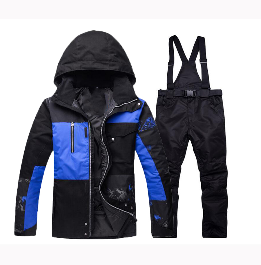 Men Winter Warm Ski Suit  Snow Skiing Male Clothes Set Outdoor Thermal Waterproof Windproof Snowboard Jackets And Pants