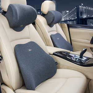 Image 2 - Soft Car Pillow Lumbar Support Cushion Car Seat Cushion Memory Foam Polyester Backrest Pad Orthopedic Relieve Pain Pillow