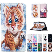 Cartoon Tiger Wallet Flip Leather Case For Samsung S20 Plus Phone Cover For Samsung Galaxy S11 Plus S11E S20 Ultra Case Capa(China)
