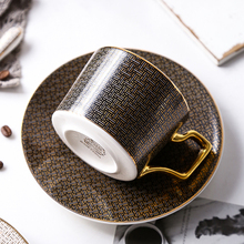 Classic grid pattern ceramic coffee cup bone china water cup afternoon tea coffee cup teacup elegant bone china cup spoon saucer klimt classic kiss design coffee cup and tea saucer ceramic