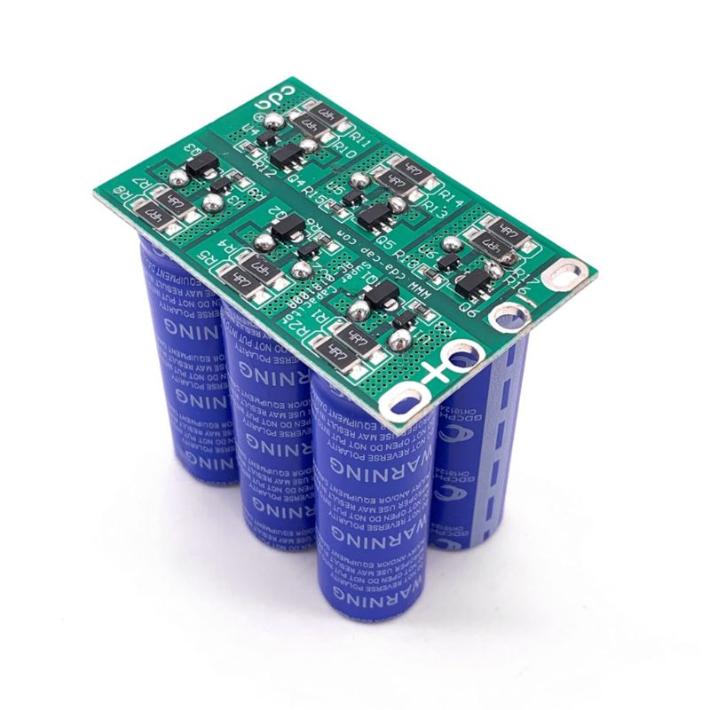 Image 4 - 16V 16.6F Super Farad Capacitor 6PCS/Set 2.7V 100F Super Capacitor with Protection Board Double Row for Car Automotive RectifierCapacitors   -
