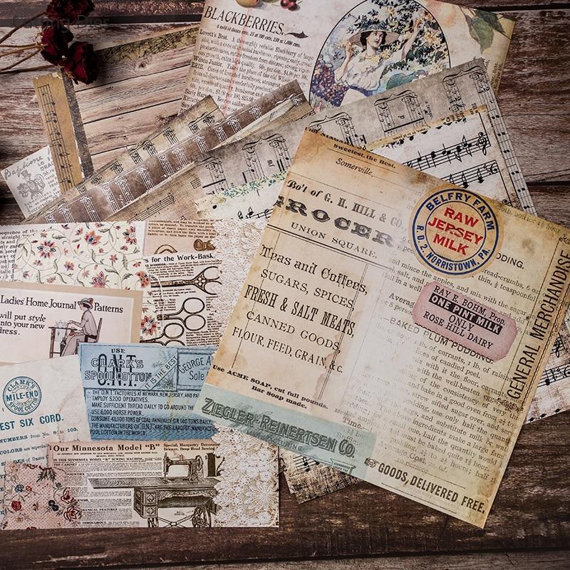 20Pcs/lot 20x20cm Vintage Words Background Scrapbooking Paper Sticker Vellum Paper Card Making Diy Journal Project 3