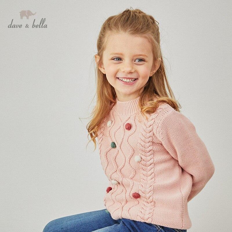 DBM15465 1K dave bella/Зимний Рождественский вязаный свитер в полоску с аппликацией для маленьких девочек модные эксклюзивные топы для малышей|Свитера| | АлиЭкспресс