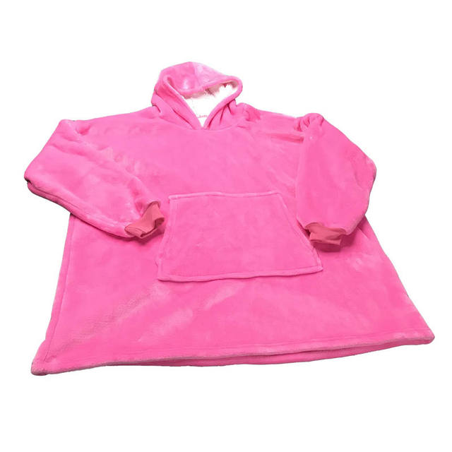 Microfiber Plush Fleece Hooded Blanket