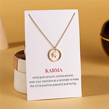 Ailodo Make a Wish Cricle Pendant Necklace Gold Color Chain Imitation Pearl Statement Fashion Jewelry Gift LD245