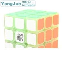 YongJun SuLong 3x3x3 Magic Cube YJ Noctilucent 3x3 Nightlight Neo Speed Puzzle Antistress Educational Toys For Children yongjun diamond symbol 3x3x3 magic cube yj 3x3 professional neo speed puzzle antistress fidget educational toys for children