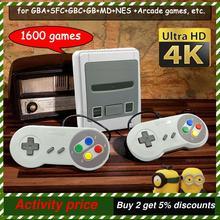 64 Bit 4K HD Arcade Video Game Konsole für Super Nintendo Sega 1600 Plus Retro Spiele Mini Gamepad Joystick dropshipping