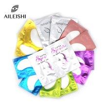 10/50/100 pares remendos para construir hydrogel eyepads cílios extensão papel adesivos lint livre sob almofadas de olho maquiagem suprimentos