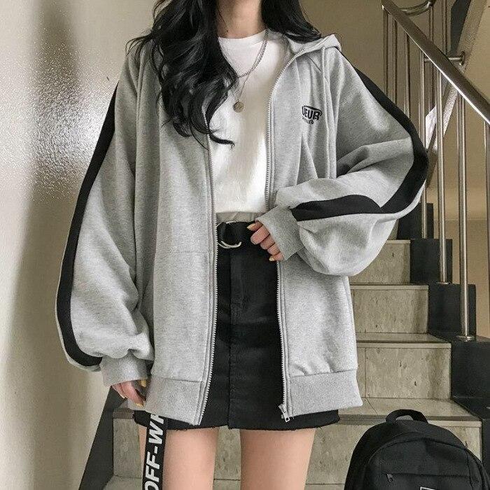Oversized Hoodies Women Casual Long Sleeve Loose Sweatshirts Female Harajuku Street Boyfriend Style Sweatshirt Fleece Clothes 2