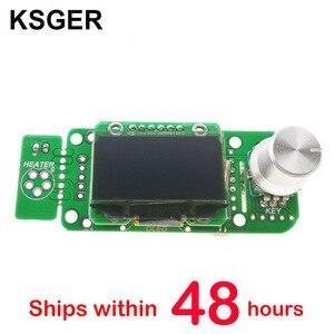 Image 1 - KSGER soldador eléctrico V2.01 STM32 OLED T12, Controlador de estación de soldadura de temperatura, T12 K T12 JL02 punta de pistola para soldar