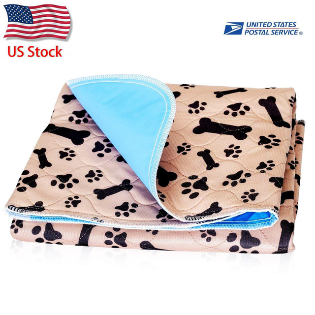 Dropship Dog Bed Mats Reusable Soft Flannel Fleece Paw Dog Urine Pad Puppy Pee Fast Absorbing Pad Rug For Dogs Cats Stock in US 1
