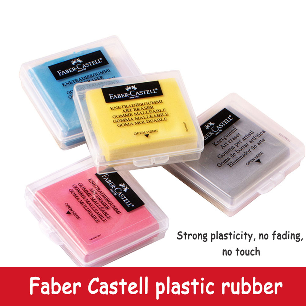 Faber Castell Plasticity Rubber Soft Eraser Wipe Highlight Kneaded Rubber For Art Pianting Design Sketch Plasticine Stationery