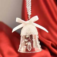 2 Pcs Crystal Bells Christmas Crystal Festive Wind Chime Ornaments Pendants Jewelry for Home Party Car(China)