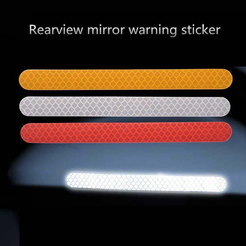 2Pcs Reflectante Auto Stickers Reflector Achteruitkijkspiegel Reflecterende Tape Auto Accessoires Exterieur Reflex Tape Reflecterende Strip
