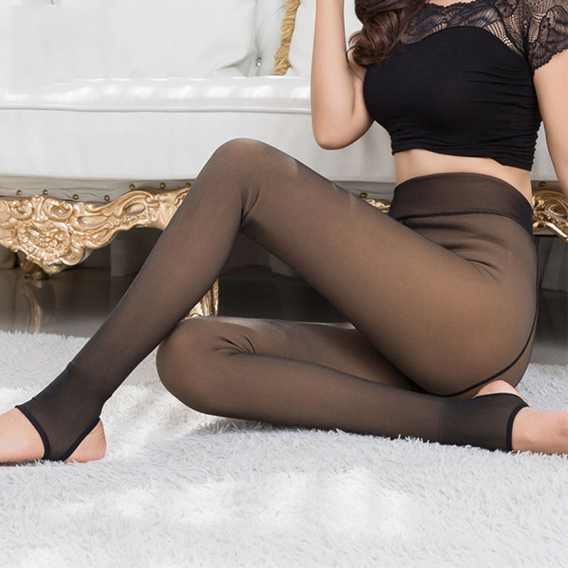 Image 4 - 2019 Leggings Women Thick Legins Through The Meat Warm Pants Women's Leggings Warm Mesh Leggins For Womens Winter Clothes-in Leggings from Women's Clothing