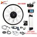 EU RU Duty Free No Tax 36V 500W eBike Kit 36V10AH литиевая батарея ebike комплект для переоборудования электрического велосипеда передняя  Задняя Ступица моторное...