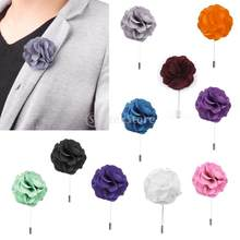 Men Women Handmade Fashion Simply Flower Brooch Boutonniere Stick Lapel Tie Pin Brooch T-shirt Decoration Wedding Jewelry Access(China)