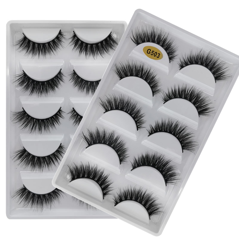 5 Pairs Natural Long Eyelashes Makeup False Eyelashes Full Strip Lashes Mink Eyelashes Thick 3d Mink Lashes Maquillaje Faux Cils