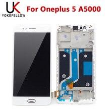 테스트 한 LCD 화면 Oneplus 5 A5000 LCD 디스플레이 화면 프레임 터치 어셈블리