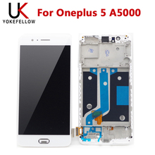 Tested LCD Screen For Oneplus 5 A5000 LCD Display Screen With Touch Assembly With Frame