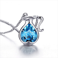 12 Zodiac Signs Austrian Crystal Pendant Necklace Jewelry Birthday Day Gift for Friends (200 Pcs)
