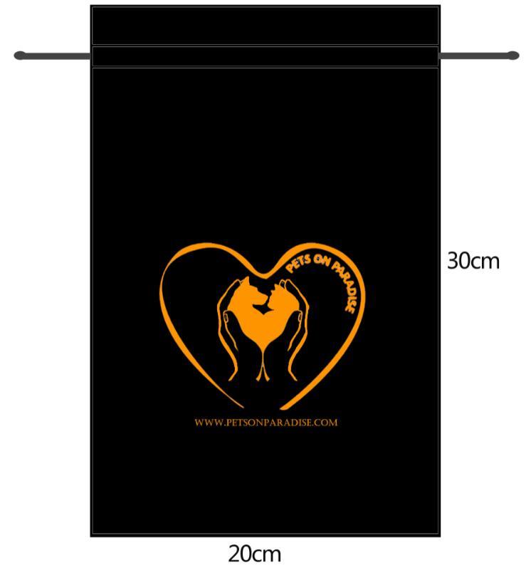 Sabrina Di Pastena - The Black Satin Bag,with Gold Color Logo Printed,20x30cm,300pcs 40x30cm,50pcs