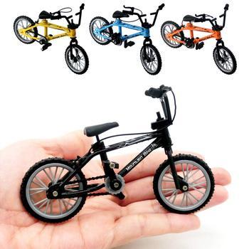 Mini bicicleta de dedo perfecta Miniatura de Metal juguetes niños dedo bicicleta para Mini deportes extremos juguete fiesta niños regalos
