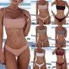 2021 New Sexy Push Up Unpadded Brazilian Bikini Set Women Vintage Swimwear Swimsuit Beach Suit Biquini bathing suits 1