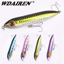 WDAIREN Top water Pencil Fishing Lures 90mm 12g Long Casting Floating Hard Baits Good Action Bullet Popper Wobblers Tackle
