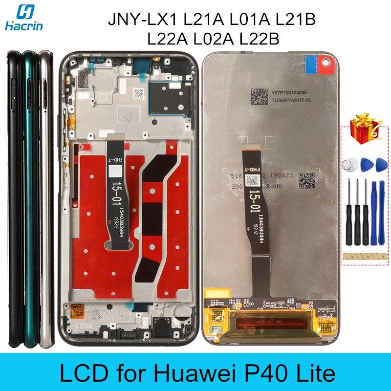 ЖК-дисплей для Huawei P40 Lite JNY-LX1 дисплей оригинальный ЖК-дисплей с рамкой сенсорный экран Замена для P40 P 40 Lite ЖК-дисплей протестирован