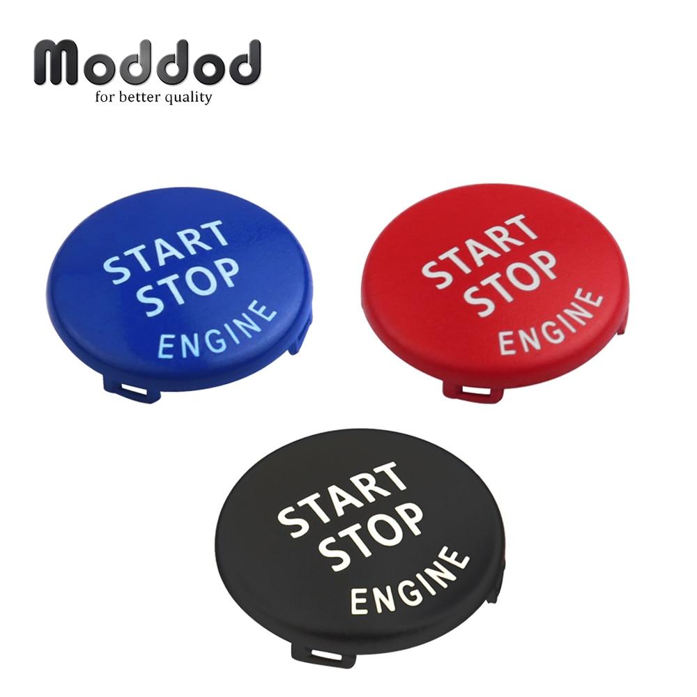 Start stop 엔진 버튼 bmw x1 x5 e70 x6 e71 z4 e89 3 5 시리즈 e90 e91 e60 키 장식 링 트림 캡 스위치 키트
