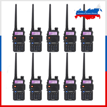 10pcs BaoFeng UV-5R Walkie Talkie Dual Band Two Way Radio VHF UHF 136-174MHz 400-520MHz Ham Communicator Station - discount item  10% OFF Walkie Talkie