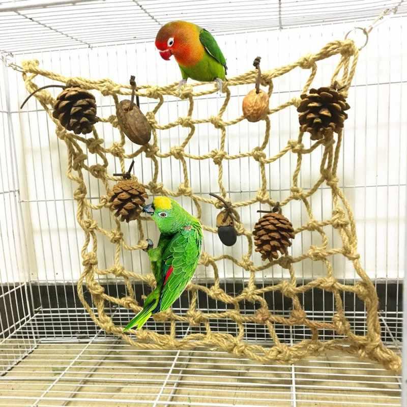 Животное птица странная смешная сетка для лазанья клетка попугая висячая
