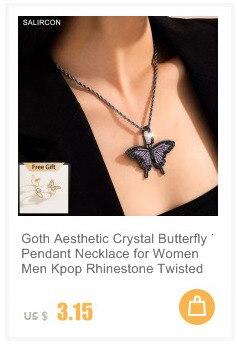 Salircon геометрический Роза бабочка подвеска колье для женщин