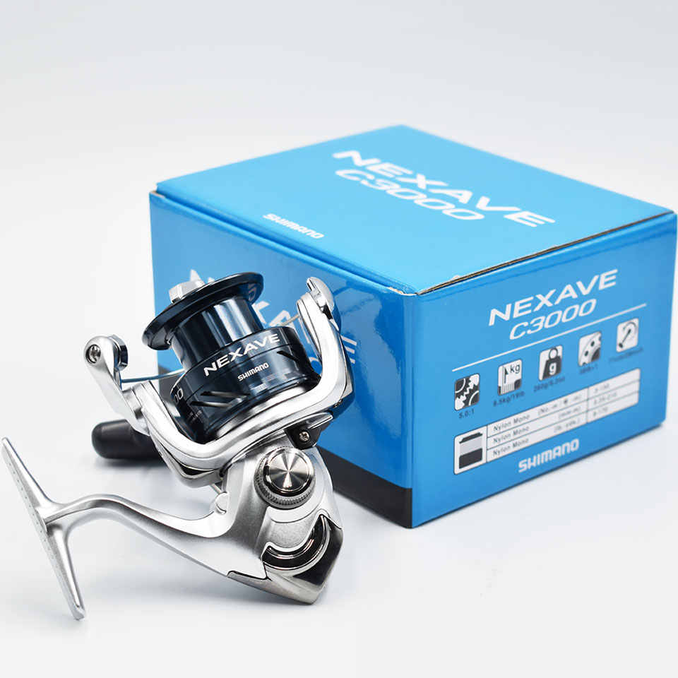 SHIMANO NEXAVE 1000/2500/C3000/4000 بكرة صيد دوارة مع بكرة AR-C مناسبة لمياه البحر غزل الصيد بكرة