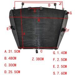 Motorcycle Radiator For Honda CBR1000RR  CBR1000RA CBR1000 RR RA 2008 2009 2010 2011 Aluminium Cooling Cooler