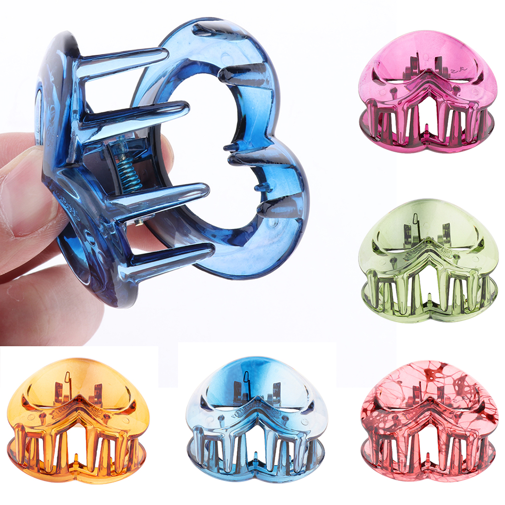 Heart Shape Hair Jaw Clips for Thick Hair Non-slip Hair Claw Clip for Women Girls