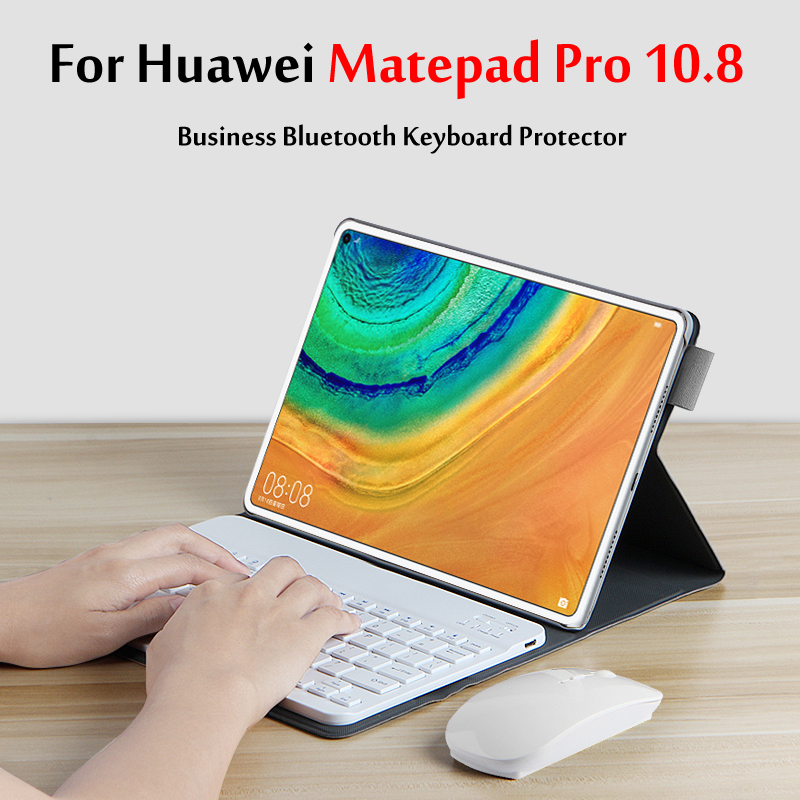 Wireless Bluetooth Keyboard Case For Huawei MatePad Pro 10.8''Tablet MRX-W09 / MRX-AL09 Magnetic Stand Cover Funda