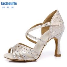 Dance-Shoes Sandals Wedding-Dance Full-Rhineston Woman Ballroom Latin Tango for Dancing