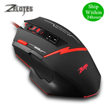 Zelotes C 8 Programmable LED Optical USB Gaming Mouse 2500 DPI 8 Buttons computer mouse hand game gaming mouse for PC laptop