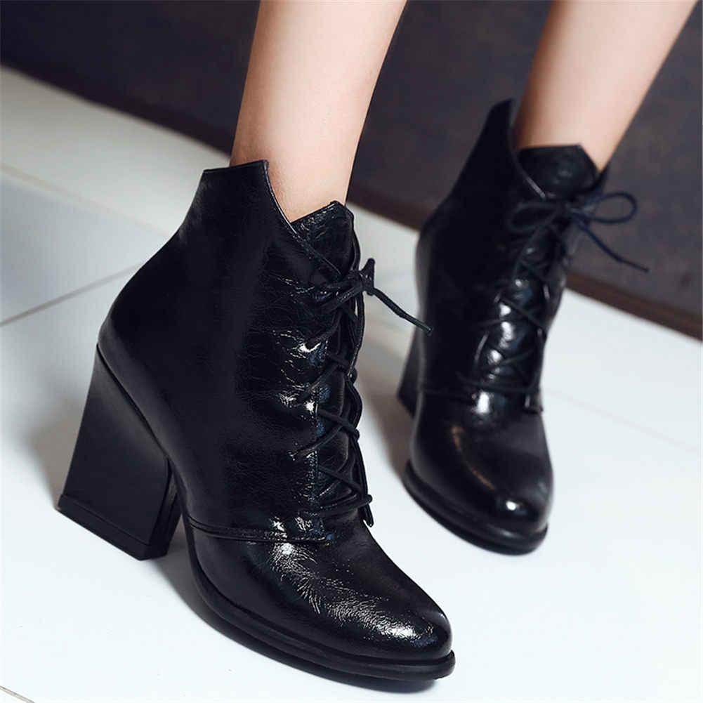 Karinluna 2019 elegant top ซองหนังขนาดใหญ่ 48 รองเท้าส้นสูงสำนักงาน lady รองเท้าผู้หญิงรองเท้าผู้หญิงรองเท้าข้อเท้า shoelaces ผู้หญิง