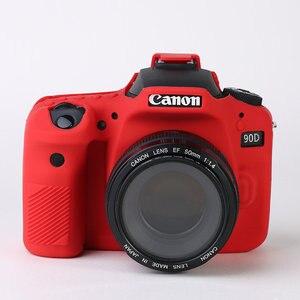 Image 4 - Silicone DSLR Camera Case Cover Bag for Canon EOS R 90D 250D 5D Mark III IV 6D II 6D2 5D3 5D4 1300D 800D 850D SL3 T8i T7i T6