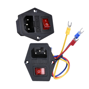 3D Printer Parts Rocker Switch Power Switch Socket Push Button 10A 250V AC Power With Red Triple 3 Pin Electrical Tool Endstop(China)